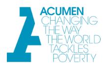 Acumen Fellowship Program 2020-21